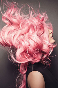 pastel pink hair colour