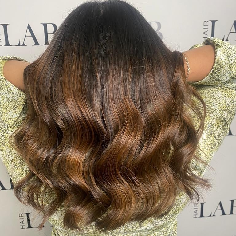 face frame balayage for brunettes at hair lab hair salon in Woking