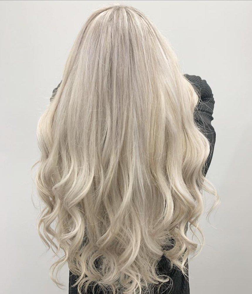 platinum blonde hair colours at Hair Lab hair salon in Woking