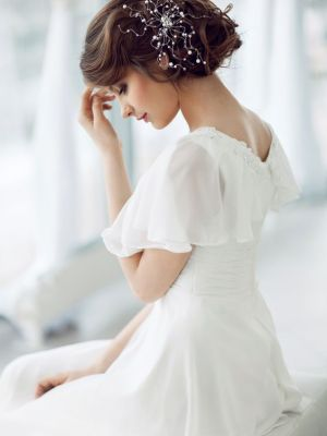 Beautiful bridal hairstyles for short hair, best salons in woking