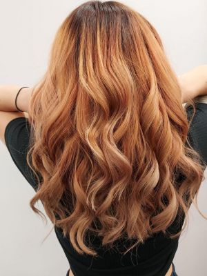copper balayage at Hair Lab hairdressing in Woking